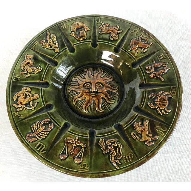 Vintage Ceramic Zodiac Ashtray For Sale In Dallas - Image 6 of 6