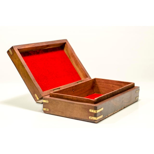 Engraved Wood Moroccan Jewelry Box - Image 5 of 7