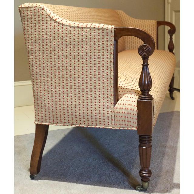 Wood Sheraton Scroll Arm Sofa, Circa:1815, New England For Sale - Image 7 of 9