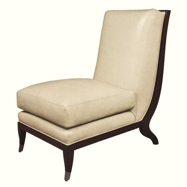 2010s William Switzer Art Deco Chaise Occasional Chair For Sale - Image 5 of 5