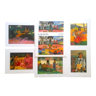 "Paul Gauguin "" a Portfolio of Six Works "" Rare Vintage 1988 Post Impressionist Lithograph Prints - Set of 6 For Sale"