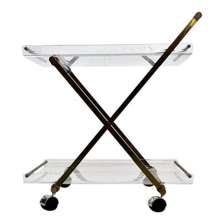 Hollywood Regency 1980s Serving Trolley