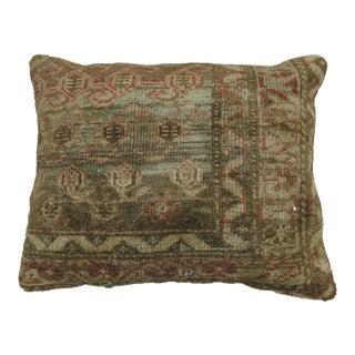 Caramel Color Antique Rug Pillow For Sale
