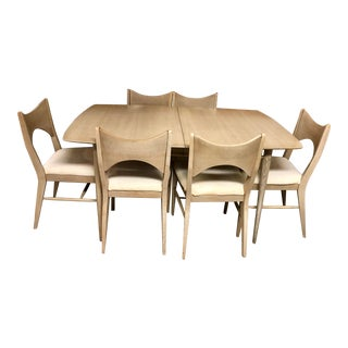 1960s Mid-Century Broyhill Saga Blonde Ash Dining Set For Sale
