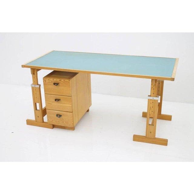 Mid-Century Modern Asko Adjustable Pine Wood Writing Desk Finland, 1970s For Sale - Image 3 of 13