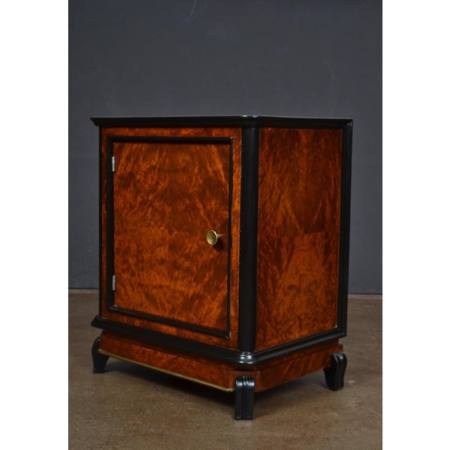 Austrian Art Deco Burled Walnut Side Tables - a Pair - Image 9 of 10