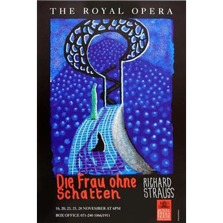 "1992 David Hockney Exhibition Poster for the ""Frau Ohne Schatten"" Opera For Sale"