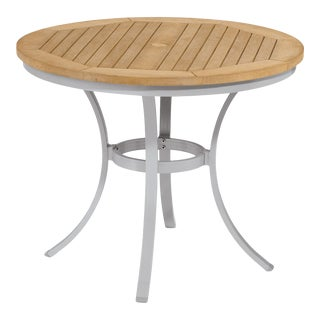 """36"""" Round Café Outdoor Bistro Table, Natural For Sale"""