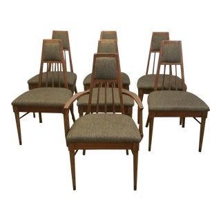 Mid Century Modern Dining Chairs - Set of 7