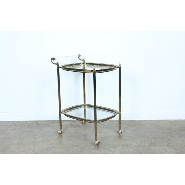 Mid-Century Gold-Tone Bar Cart - Image 5 of 11