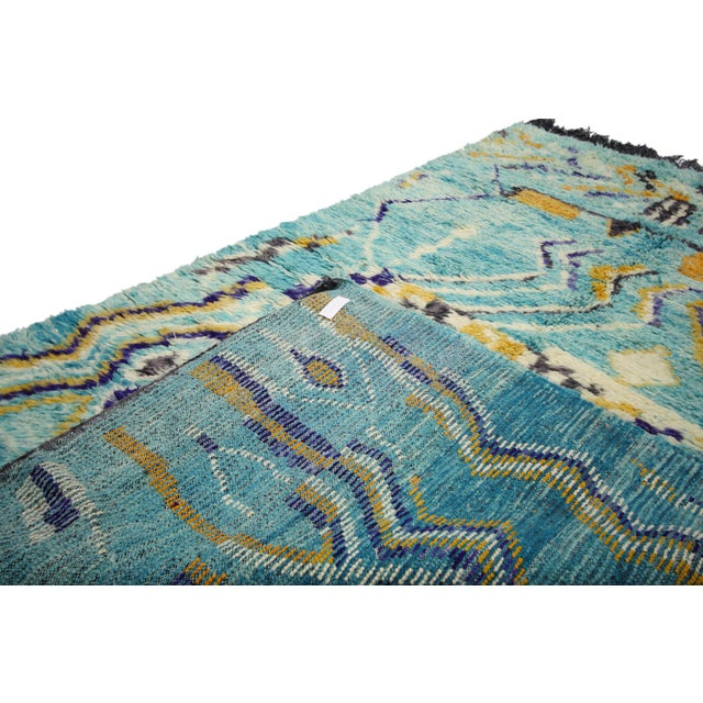 Early 21st Century Contemporary Berber Moroccan Rug - 5′ × 8′ For Sale - Image 5 of 7