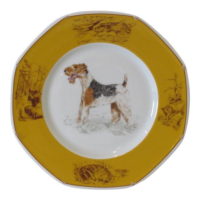 Hermes Decorative Fox Terrier Motif Plate - Image 1 of 5