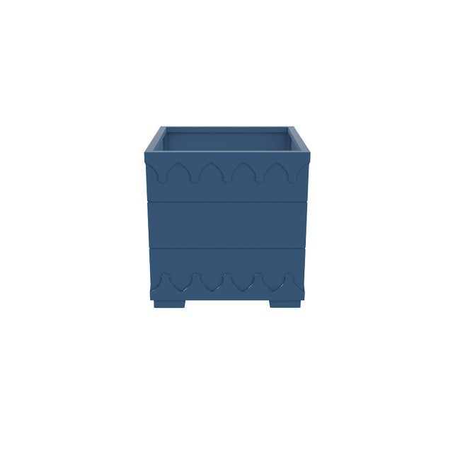 Oomph Oomph Ocean Drive Outdoor Planter Small, Blue For Sale - Image 4 of 5