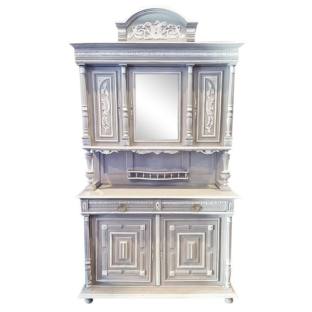 Antique French Painted Hutch For Sale