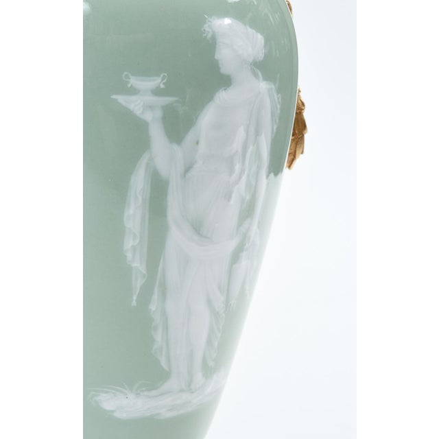 Bronze Mounted Porcelain Decorative Urn For Sale In New York - Image 6 of 11