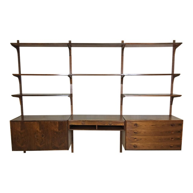 HG Danish Rosewood Wall Mounted Unit by Rud Thygesen and Johnny Sorenson For Sale