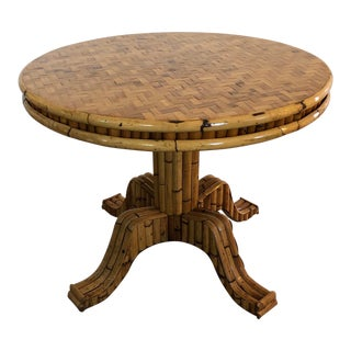Palm Regency Bamboo Dining Table For Sale