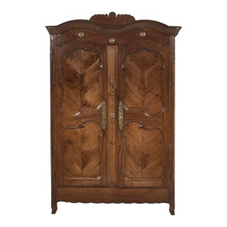 French Provisional Walnut Armoire For Sale