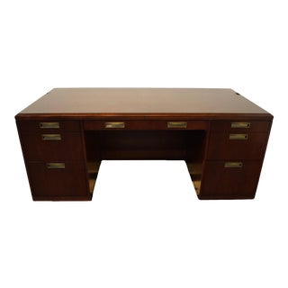"Vintage Kimball Furniture Cherry 72"" Executive Office Desk For Sale"