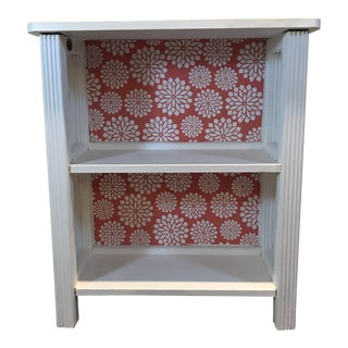 Antique Bookcase With Coral Flowers Motif For Sale