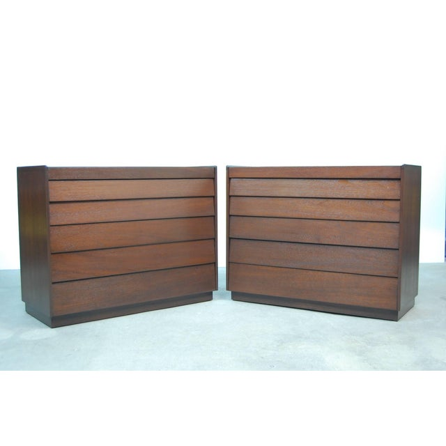 Early Pair of Louver Front Dressers by Edward Wormley For Sale - Image 5 of 5