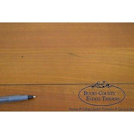 """High quality hand crafted french cherry writing desk.~ Labeled: """"Bureau de Joseph Grange, Fondateur en 1905, des Meubles..."""