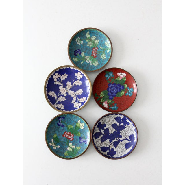 Antique Chinese Cloisonne Plates - Set of 5 - Image 7 of 8