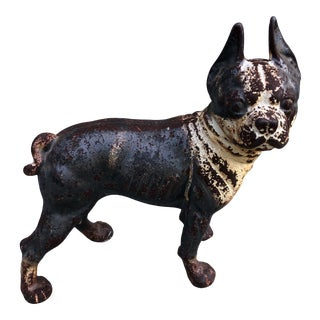Iron Boston Terrier Figurine For Sale