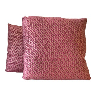 Fortuny Favo Pillows - A Pair For Sale