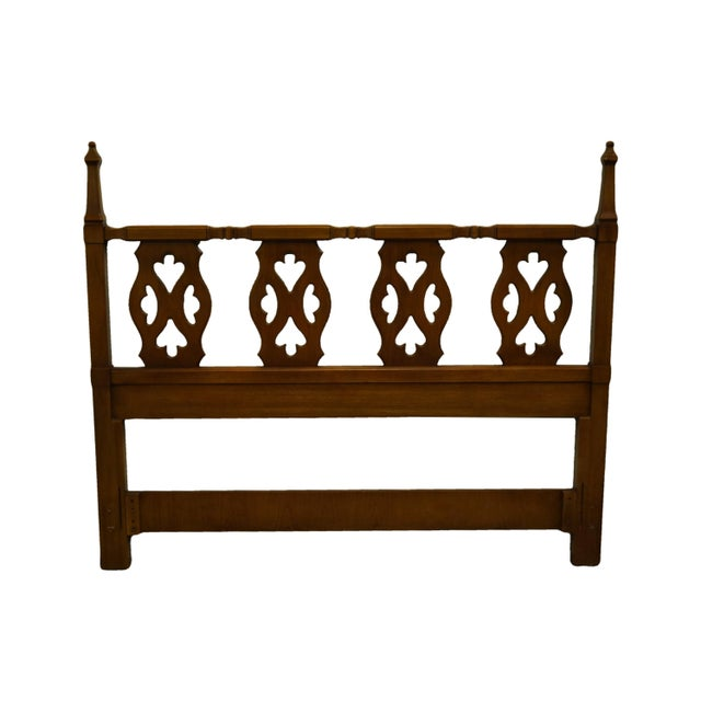 Brown 20th Century Spanish Drexel Furniture Esparanto Collection Queen Size Headboard For Sale - Image 8 of 8