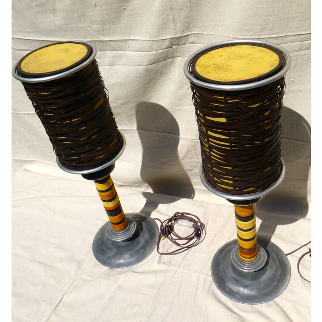 Trade Bead Lamps - A Pair - Image 3 of 9