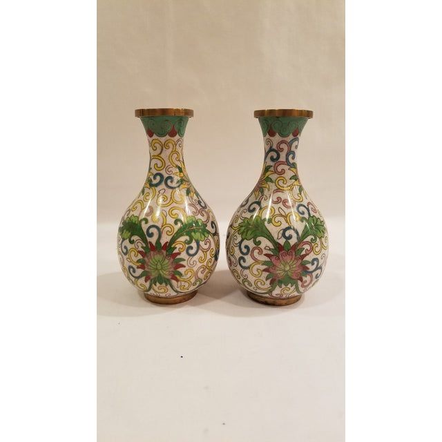1920s Chinese Cloisonne Vases - a Pair For Sale - Image 9 of 9