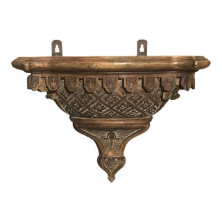 Unusual Carved French Walnut Bracket For Sale