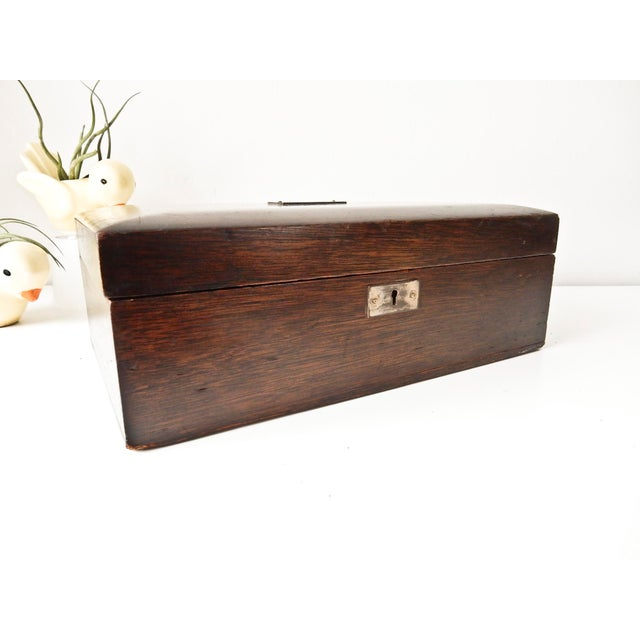 Vintage Wood Jewelry Trinket Box - Image 8 of 9