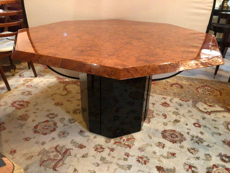 Mid Century Milo Baughman For Thayer Coggin Burl Walnut Octagonal Dining  Table   Image 2
