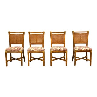 McGuire Bamboo and Cane Dining Chairs - Set of 4 For Sale