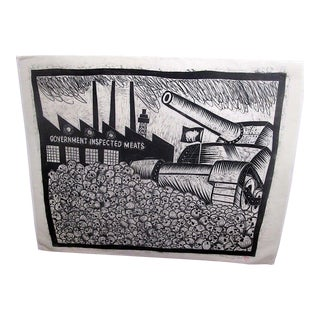"Urban Art-Artist Proof Limited Edition Woodblock Print ""The Other White Meat""-Thom Shaw-Signed/Dated For Sale"