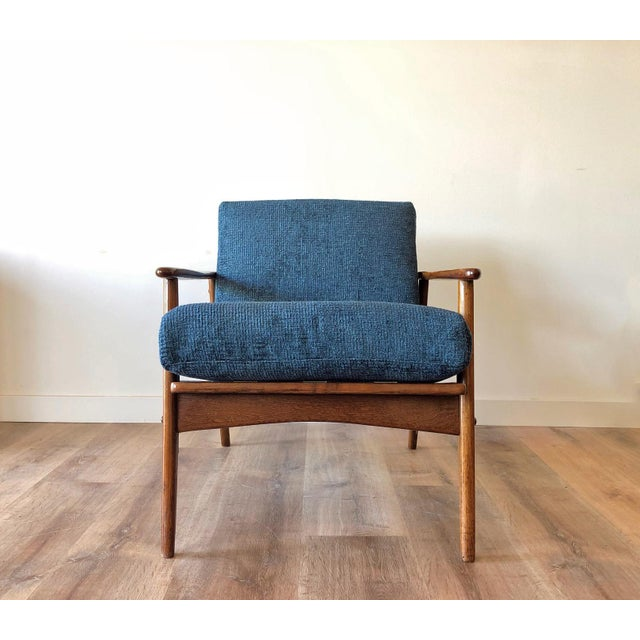 Mid-Century Modern Walnut Arm Chair For Sale - Image 4 of 13
