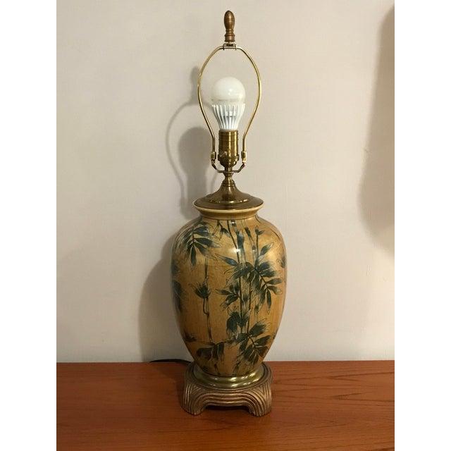 Vintage Wildwood Bamboo Ginger Jar Porcelain Table Lamp - Image 3 of 8