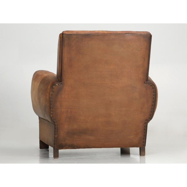 French Art Deco Club Chair Carefully Restored For Sale - Image 4 of 13