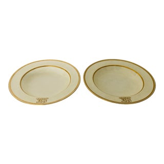 Vintage Higgins & Seiter Minton Set 2 Soup Bowls For Sale