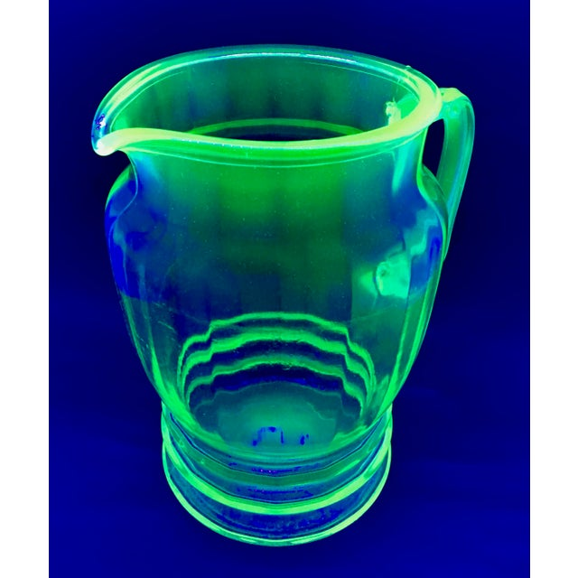Anchor Hocking Green Uranium Glass Pitcher - Image 10 of 10