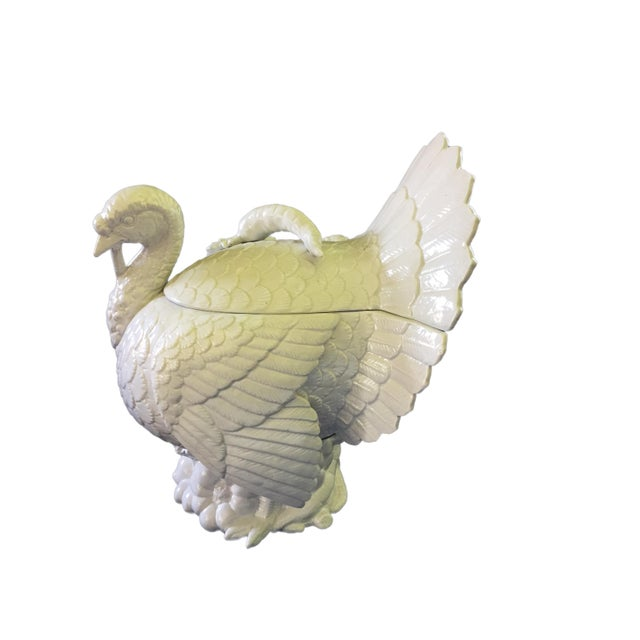 1980s Fitz & Floyd Turkey Ceramic Soup Tureen For Sale - Image 5 of 12