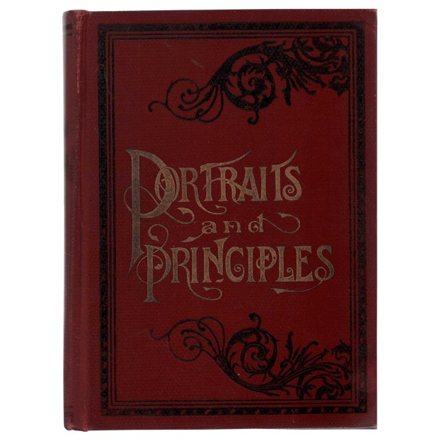 """1894 """"Portraits/Principles of Great Men/Women"""" Collectible Book For Sale"""