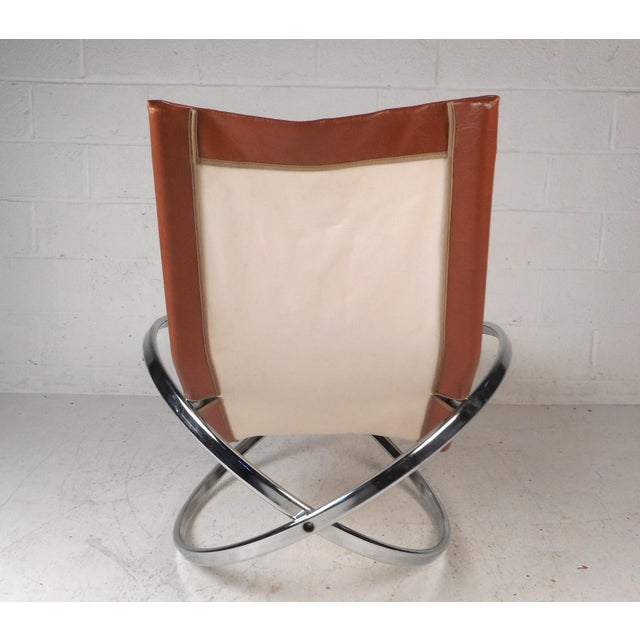 1970s Midcentury Italian Folding Chaise Lounge Rocker For Sale - Image 5 of 10
