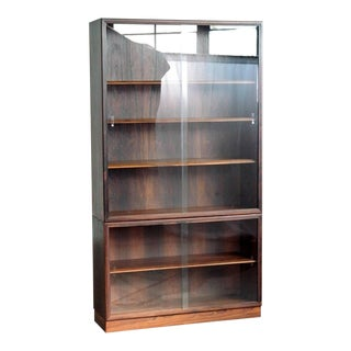 Danish Rosewood Bookcase or Display Cabinet With Glass Doors for John Stuart For Sale
