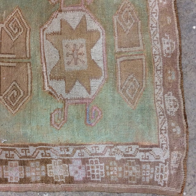 """Vintage Turkish Anatolian Runner Sea Green 7'9""""x3' For Sale In Richmond - Image 6 of 11"""