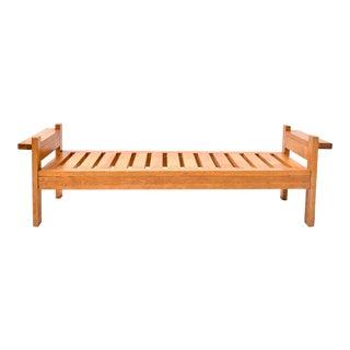 Mid Century Thomasville Oak Bench For Sale