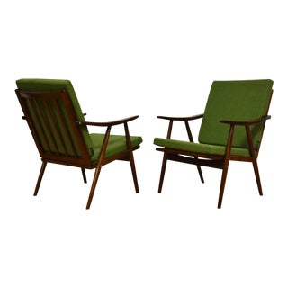 Mid Century Lounge Chairs by Ligna- a Pair For Sale