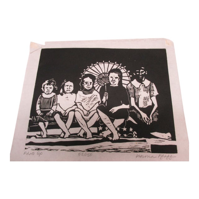 Vintage Black and White Lithograph Titled: Photo Op For Sale